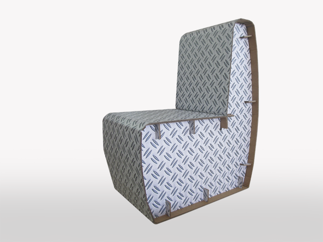Less chair sedia in cartone e legno design giorgio caporaso per