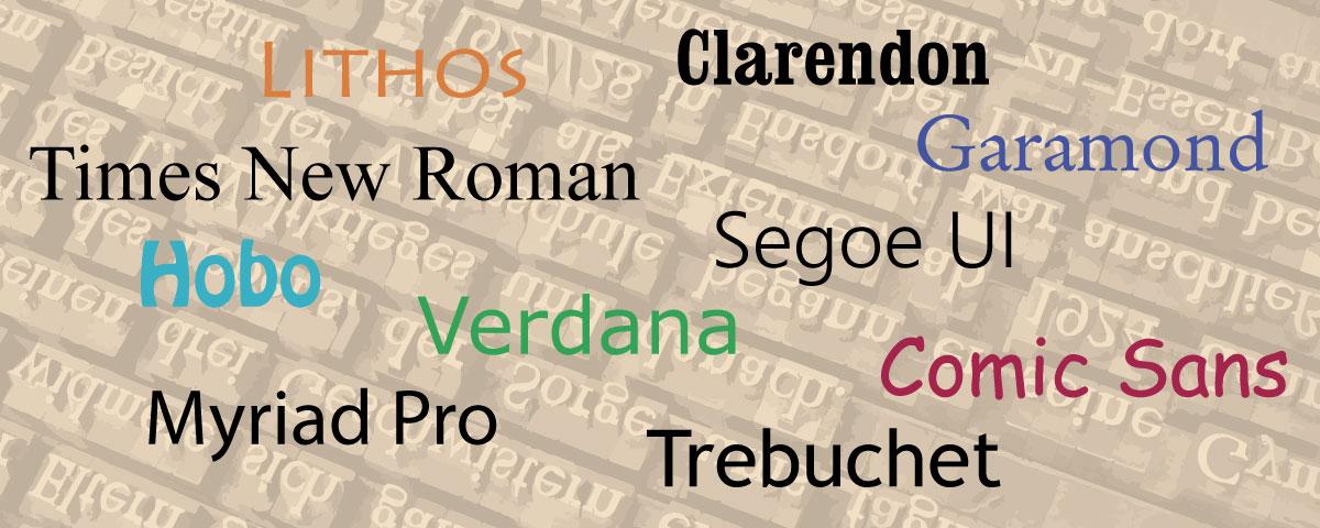 Font Serif E Sans Serif